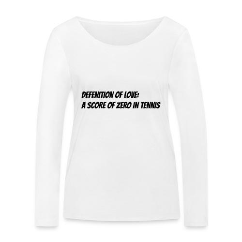 Tennis Love sweater women - Vrouwen bio shirt met lange mouwen van Stanley & Stella