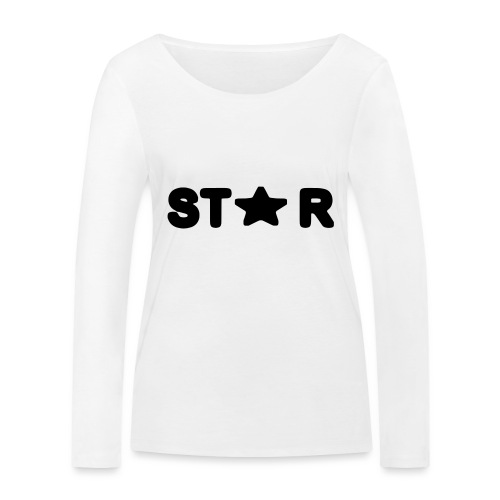 i see a star - Women's Organic Longsleeve Shirt by Stanley & Stella