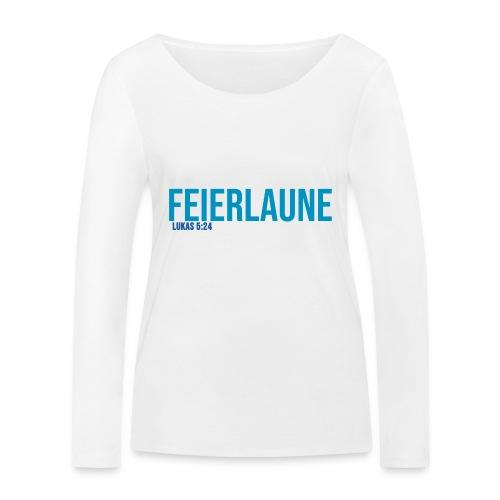 FEIERLAUNE - Print in blau - Frauen Bio-Langarmshirt von Stanley & Stella