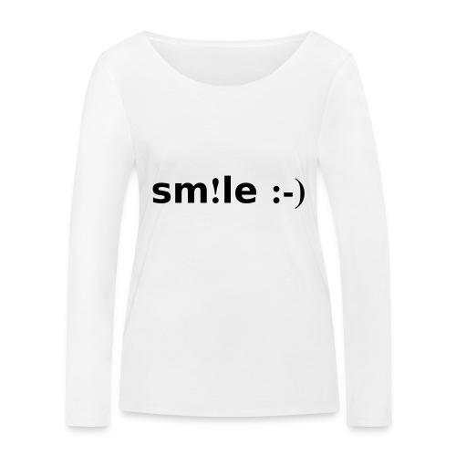 smile - sorridi - Maglietta a manica lunga ecologica da donna di Stanley & Stella
