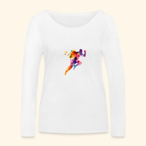 Running colores - Camiseta de manga larga ecológica mujer de Stanley & Stella