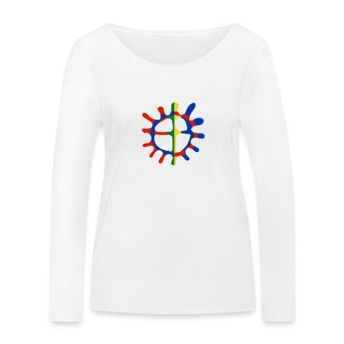Samisk sol - Økologisk langermet T-skjorte for kvinner fra Stanley & Stella