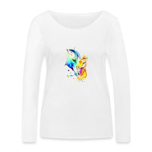 Jument et son poulain - T-shirt manches longues bio Stanley & Stella Femme