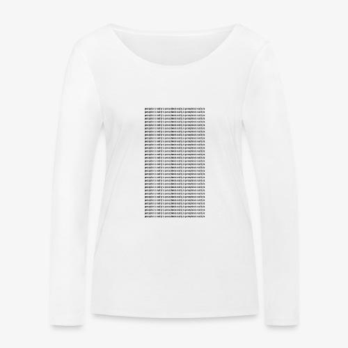 perception - Ekologiczna koszulka damska z długim rękawem Stanley & Stella