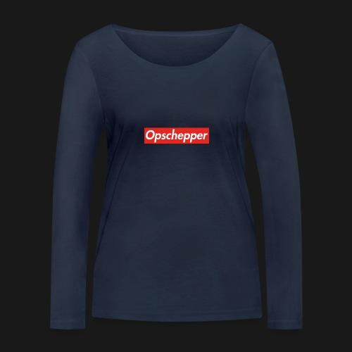 Opschepper Classic (Rood) - Vrouwen bio shirt met lange mouwen van Stanley & Stella