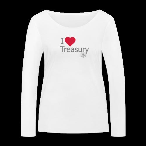 I LOVE TREASURY - Women's Organic Longsleeve Shirt by Stanley & Stella