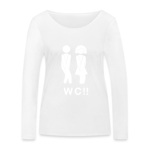 wc!! - Camiseta de manga larga ecológica mujer de Stanley & Stella