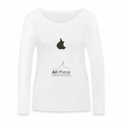 ailphoneok png - T-shirt manches longues bio Stanley & Stella Femme