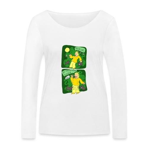 Katzenhaare - Frauen Bio-Langarmshirt von Stanley & Stella