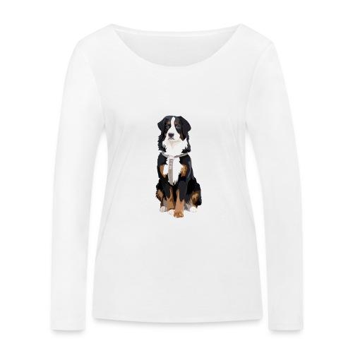 Freja sitter framifrån - Ekologisk långärmad T-shirt dam från Stanley & Stella