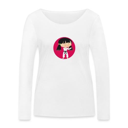 Happy Meitlis - Karate - Frauen Bio-Langarmshirt von Stanley & Stella