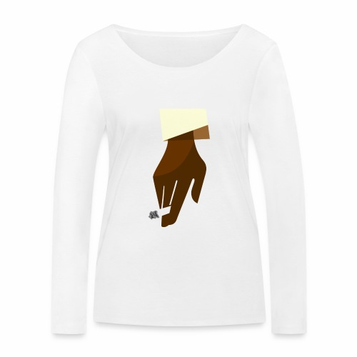Hand mit Kippe - Frauen Bio-Langarmshirt von Stanley & Stella