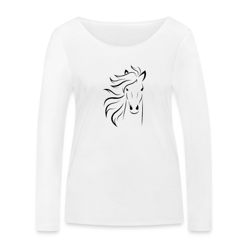 cheval - T-shirt manches longues bio Stanley & Stella Femme