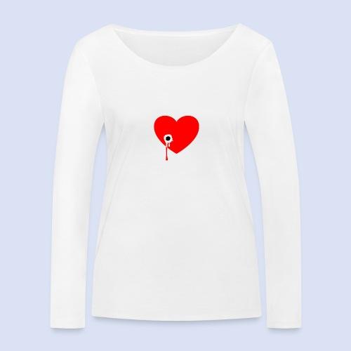Cœur troué - T-shirt manches longues bio Stanley & Stella Femme