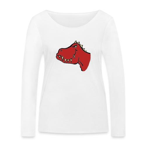 T Rex, Red Dragon - Women's Organic Longsleeve Shirt by Stanley & Stella