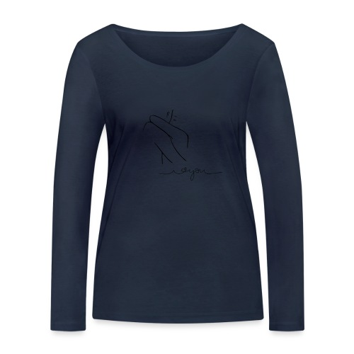 Regalo San Valentino Coppia   Sagome Abbracciate - Maglietta a manica lunga ecologica da donna di Stanley & Stella