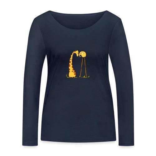 Maglietta San Valentino Tenera   con Animali - Maglietta a manica lunga ecologica da donna di Stanley & Stella
