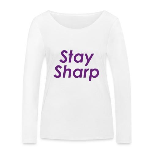 Stay Sharp - Maglietta a manica lunga ecologica da donna di Stanley & Stella