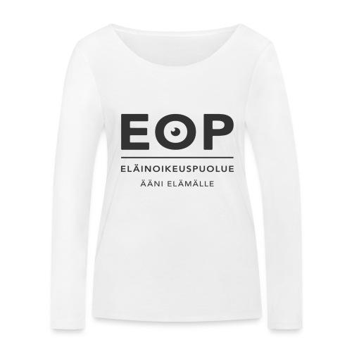 EOP Logo slogan musta - Stanley & Stellan naisten pitkähihainen luomupaita