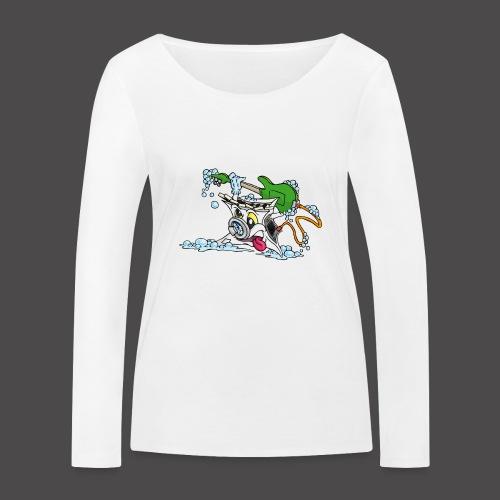 Wicked Washing Machine Wasmachine - Vrouwen bio shirt met lange mouwen van Stanley & Stella