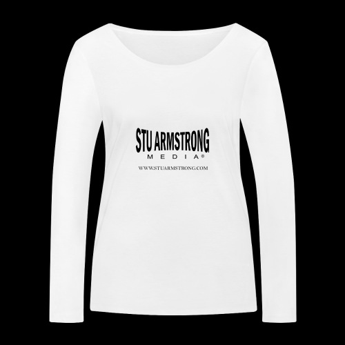 Stu Armstrong Media Black Logo - Women's Organic Longsleeve Shirt by Stanley & Stella