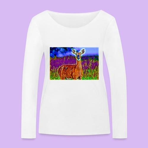 Cerbiatto con magici effetti - Maglietta a manica lunga ecologica da donna di Stanley & Stella