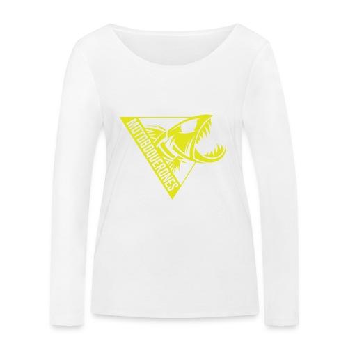 Logo Motoboquerones amarillo - Camiseta de manga larga ecológica mujer de Stanley & Stella