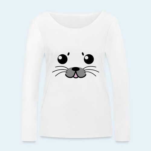Foca bebé (Cachorros) - Camiseta de manga larga ecológica mujer de Stanley & Stella