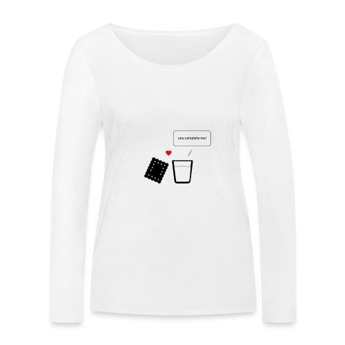 Regali per Innamorati | Mi Completi - Maglietta a manica lunga ecologica da donna di Stanley & Stella
