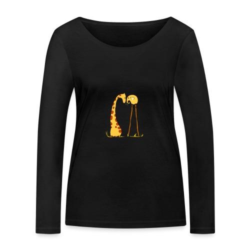 Maglietta San Valentino Tenera | con Animali - Maglietta a manica lunga ecologica da donna di Stanley & Stella