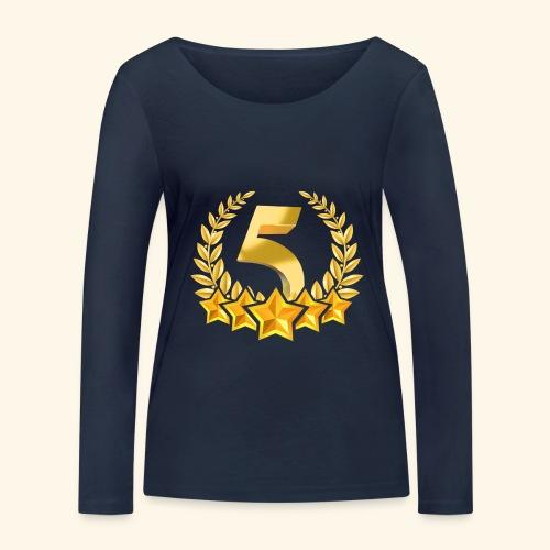 Fünf-Stern 5 sterne - Frauen Bio-Langarmshirt von Stanley & Stella