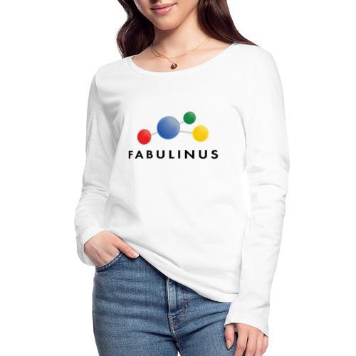 Fabulinus logo dubbelzijdig - Vrouwen bio shirt met lange mouwen van Stanley & Stella