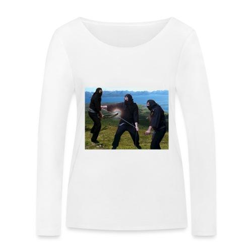 Chasvag ninja - Økologisk langermet T-skjorte for kvinner fra Stanley & Stella