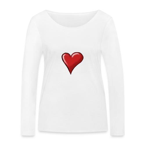 Love (coeur) - T-shirt manches longues bio Stanley & Stella Femme