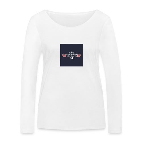 top gun wingman design - Camiseta de manga larga ecológica mujer de Stanley & Stella