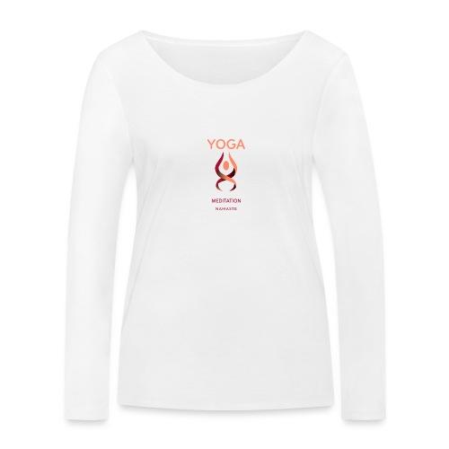 Yoga Meditation Namaste - Frauen Bio-Langarmshirt von Stanley & Stella