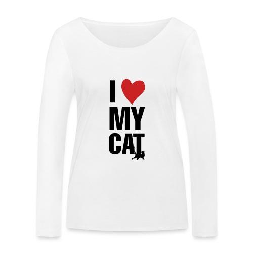 I_LOVE_MY_CAT-png - Camiseta de manga larga ecológica mujer de Stanley & Stella