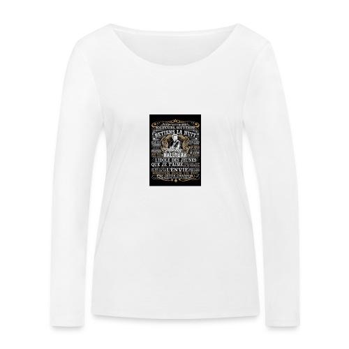 Johnny hallyday diamant peinture Superstar chanteu - T-shirt manches longues bio Stanley & Stella Femme