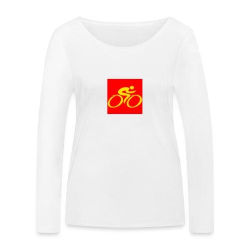 Tour de Epe Logo 2017 2018 3 png - Vrouwen bio shirt met lange mouwen van Stanley & Stella