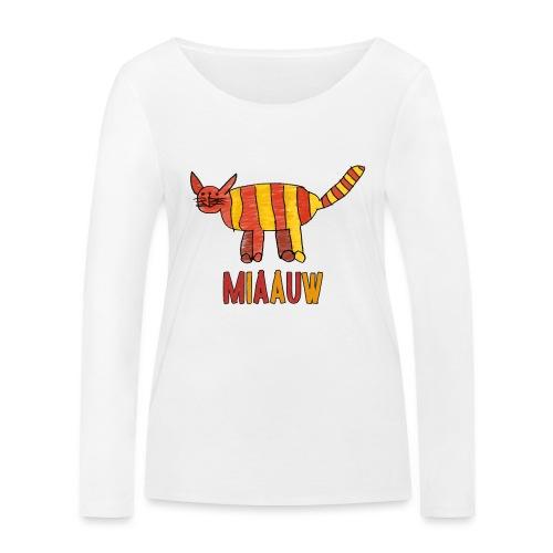 miaauw poesje - Vrouwen bio shirt met lange mouwen van Stanley & Stella