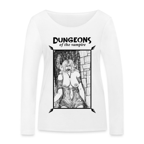catacombs vampire black version - Women's Organic Longsleeve Shirt by Stanley & Stella