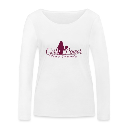 GIRL POWER NEVER SURRENDER - Camiseta de manga larga ecológica mujer de Stanley & Stella