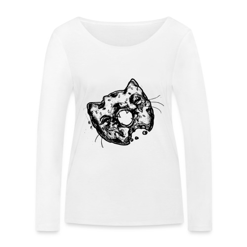 Dona Gato Negro - Camiseta de manga larga ecológica mujer de Stanley & Stella