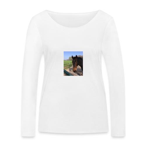 Met bruin paard bedrukt - Vrouwen bio shirt met lange mouwen van Stanley & Stella
