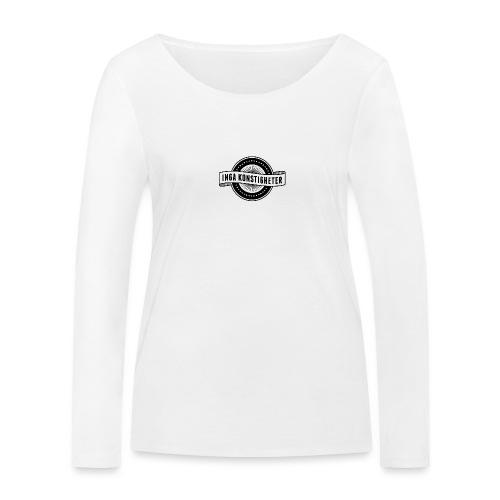 Inga Konstigheters klassiska logga (ljus) - Ekologisk långärmad T-shirt dam från Stanley & Stella