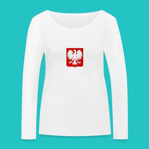Koszulka z godłem Polski - Ekologiczna koszulka damska z długim rękawem Stanley & Stella
