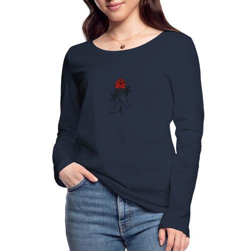 Fiore rosso - Maglietta a manica lunga ecologica da donna di Stanley & Stella