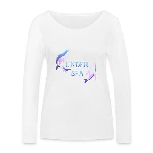 Under the Sea - Les Baleines - Women's Organic Longsleeve Shirt by Stanley & Stella