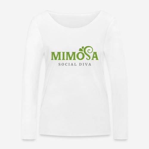 mimosa social diva - Frauen Bio-Langarmshirt von Stanley & Stella