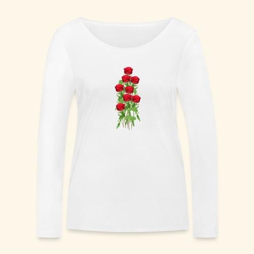 rote rosen - Frauen Bio-Langarmshirt von Stanley & Stella